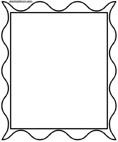 coloring photo frame clipart best