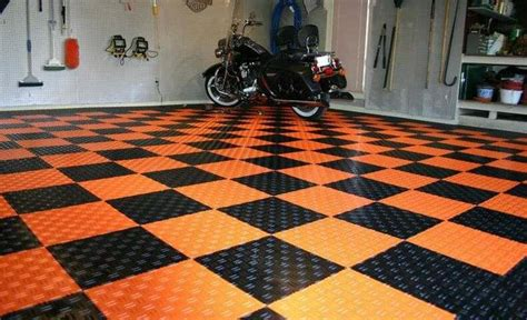 SwissTrax garage floor tile harley davidson