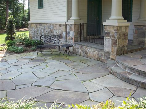 flagstone patio outdoor spaces pinterest