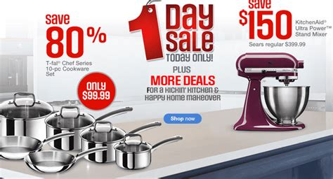 Sears Canada Online One Day Hot Sale: Just $99.99 For 10