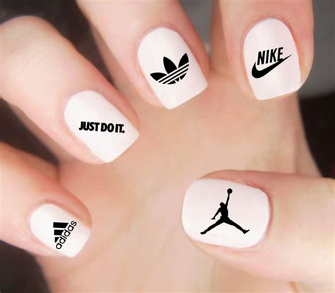 Decal Logo Adidas 1 Set air nagel decal nike nail decal adidas