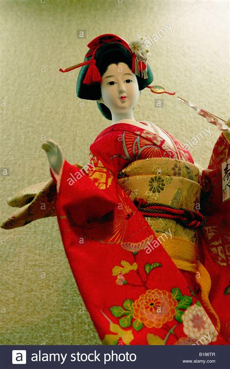 japanese doll with kimono traditional japanese dress for