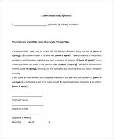 confidentiality policy template client confidentiality agreement 9 free word excel