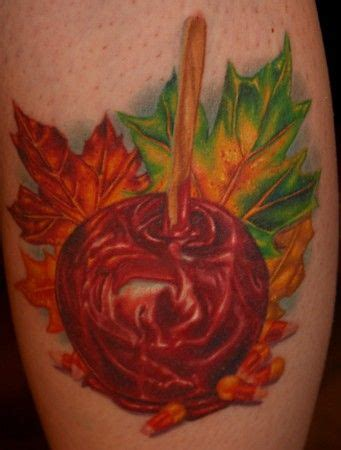 candy apple tattoo tim harris candyapple and fall foliage apple