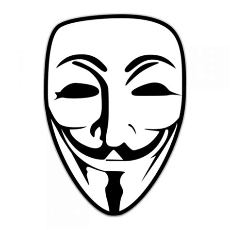 printable anonymous mask guy fawkes mask logo shaped sticker unixstickers