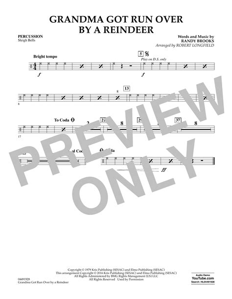 grandma got run over by a reindeer chords the sheet music digital files to print licensed randy brooks