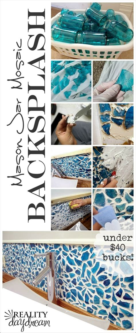 jar mosaic backsplash reality daydream