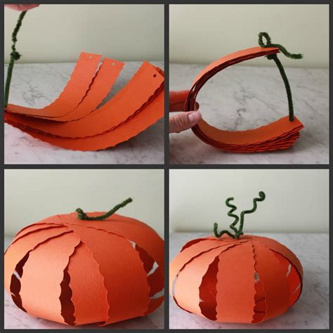 paper pumpkin crafts for three craft ideas