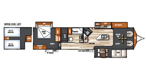 salem rv floor plans 2017 forest river salem villa estate 4092bfl model