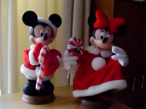 disney mickey minnie mouse animated christmas figures