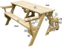 folding picnic table bench images