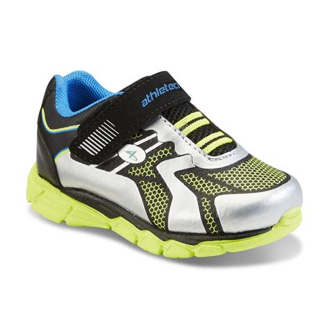 toddler boy athletic shoes athletech toddler boy s dynamo silver black green athletic