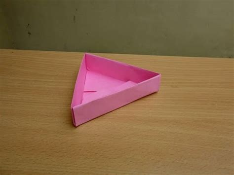 How To Make A Triangle Out Of Paper - how to make a paper triangle box easy tutorials