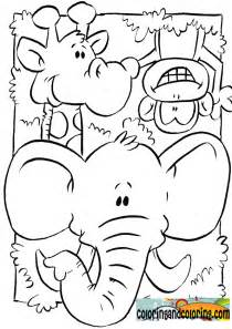 jungle animal coloring pages free coloring pages of animals and jungle