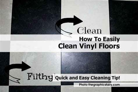 how to easily clean vinyl floors