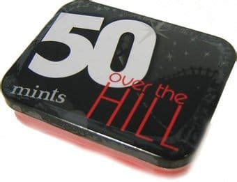 red hill design inc over the hill mints in tin 50 black red design