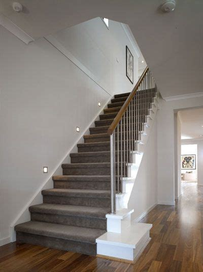 grey wallpaper hallway ideas grey carpet with stairs view deck railing ideas at http