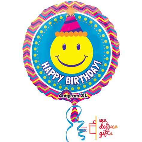 Balon Foil Hbd Balon Foil Es smiley hbd foil balloon wedelivergifts