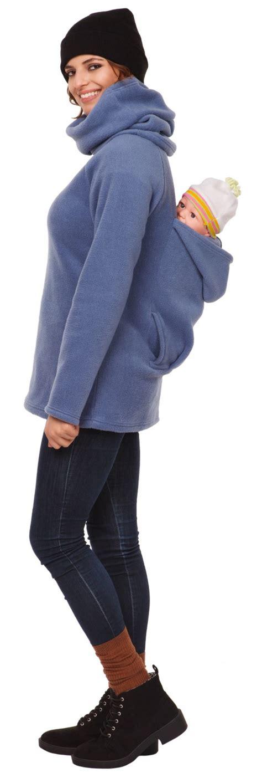 Maternity Fleece Hoodie happy s maternity fleece hoodie back front