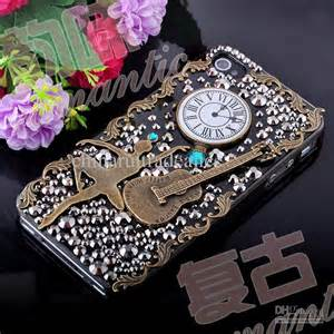 3d luxurious vintage rhinestone craft cellphone