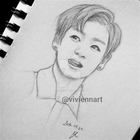 V Drawing Easy by Bts Jungkook Drawing By Vivienn On Deviantart