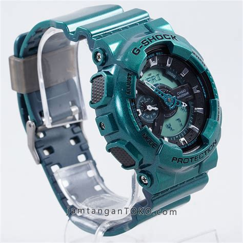 G Shock G 100 Ori gambar g shock ori bm ga 100nm 3a neo metallic green