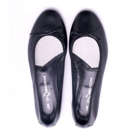 black leather ballet shoes michele lopriore shop