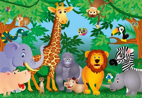 Kids Space Wall Stickers jungle theme wallpaper for kids wallpapersafari