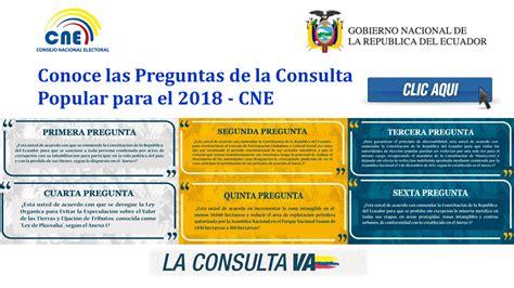 preguntas del si o no ecuador conoce las preguntas de la consulta popular para el 2018 cne
