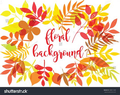 multicolor pattern leaves vector autumn leaves pattern multicolor fall stock vector