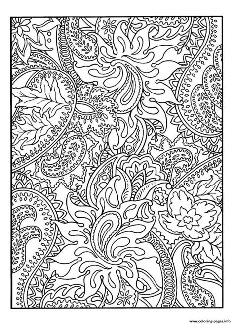 pattern coloring books for adults coloring pages print adult pretty patterns plant coloring