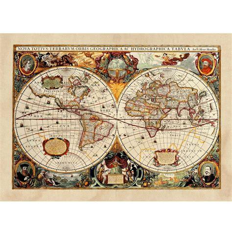 mondo arredamento poster antica mappa 1646 mondo world cartina geografica