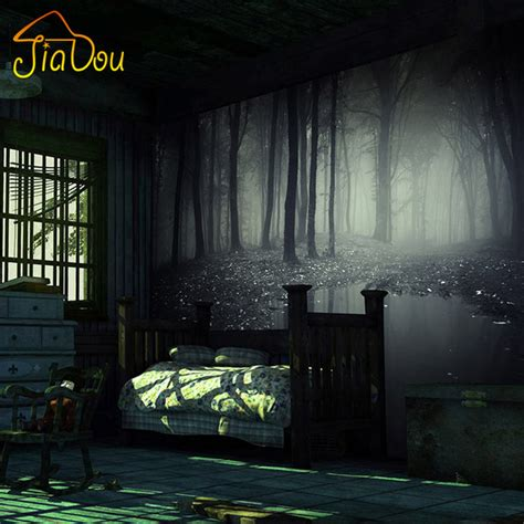 escape 3d horror house aliexpress com buy custom photo wallpaper 3d stereo mysterious forest horror room