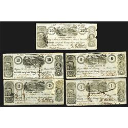 Wayne County Pa Property Tax Records Wayne County Pa 1859 Obsolete Banknote Assortment Archives International Auctions