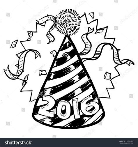doodle new doodle style new years celebration stock vector