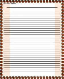 ruled paper word template lined paper template free printable word templates