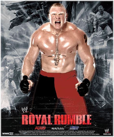 brock lesnar royal rumble 2013 poster by mhmd batista