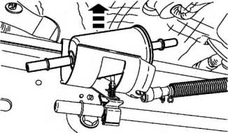 where is the fuel filter located on a 2003 ford solved