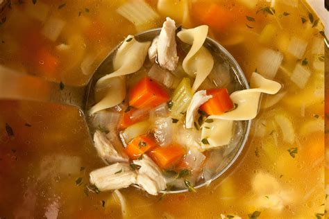 easy chicken noodle soup from a leftover roasted chicken recipe chow com