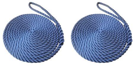 boat mooring warps timko ltd 2 x 10mm navy blue 3 strand boat mooring ropes