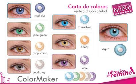 color maker lentes de contacto cosm 233 ticos de colores color maker