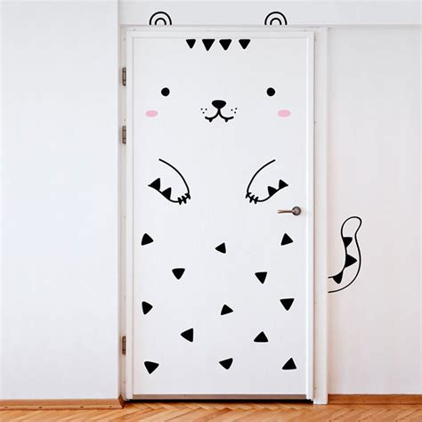 door stickers door stickers will transform your doors into animals