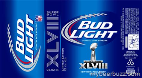 bud light superbowl cans bud light bowl xlviii 2014 specialty cans