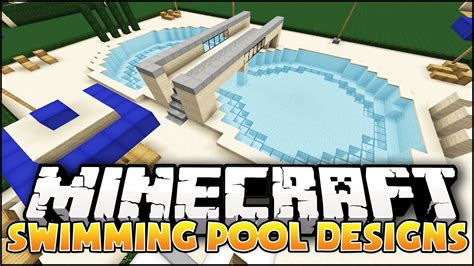Minecraft Bedroom Ideas by Minecraft Swimming Pool Designs Youtube