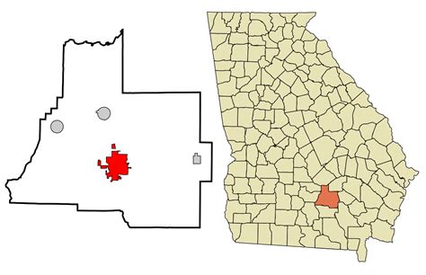 Coffee County Ga Records File Coffee County Incorporated And Unincorporated Areas Douglas Highlighted