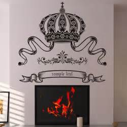Customize Wall Stickers Crown Custom Badge Wall Decal Wall Art Stickers Transfers