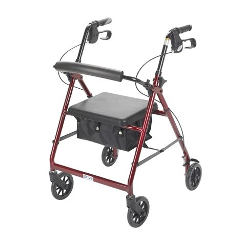 drive walker with seat drive rollator walker with fold up and removable back
