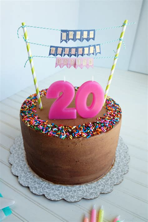 Brown Cake Diameter 20 20th birthday chocolate confetti cake the baking