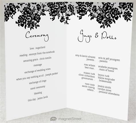 Wedding Program Wording Template by 2 Modern Wedding Program And Templates2 Modern Wedding