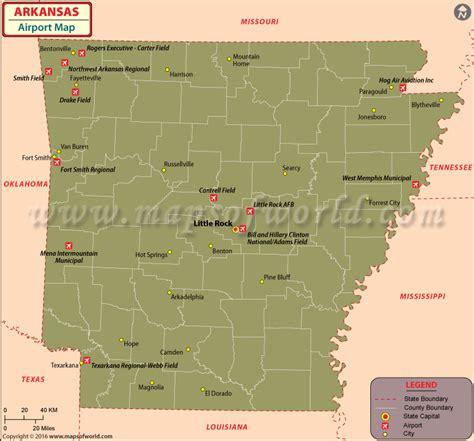 airport map of usa airports in arkansas arkansas airports map
